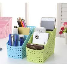 1pcs large capacity desk organizer pp plastic desktop storage box