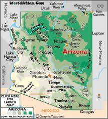 colorado physical map geography of arizona world atlas