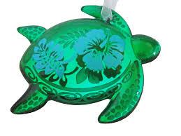 hallmark keepsake 2017 green sea turtle honu hawaii glass ornament