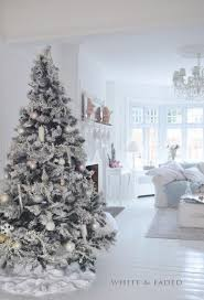 white tree with silver decorations find craft ideas