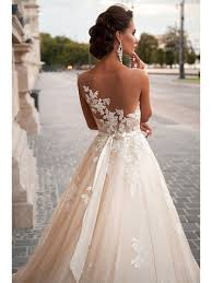 bridal gowns line see through back lace wedding dresses bridal gowns 4301008