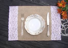 table setting placemat burlap and lace placemat wedding table setting rustic table topper