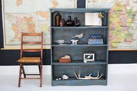 Annie Sloan Painted Bookcase Layering Many Colors On Furniture For An Aged Effect U2014 A Simpler