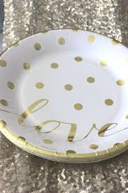 wedding plates for sale sale 10 gold polka dot small paper plates glam chic gold dots