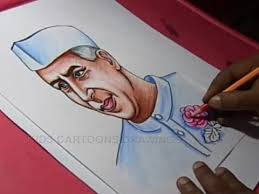 how to draw children u0027s day nehru drawing for kids step by step