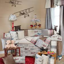 Airplane Bedding Sets by Bedding Vintage Airplanes Blue Piece Crib Bedding Set By Thro