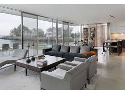 living rooms sliding glass doors coastal connecticut grayscale