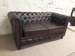 Used Leather Chesterfield Sofa by Vintage Leather Chesterfield Union Jack Sofa Shakunt Vintage