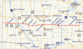 Indiana Road Conditions Map File Map Of Indiana State Road 18 Svg Wikimedia Commons