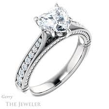 heart style rings images Vintage style heart shaped ring gtj1049 heart fb w gerry the jpg