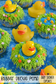 rubber duckie baby shower duckie pond baby shower cupcakes