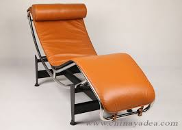le corbusier chair lc4 chaise lounge light brown leather reion