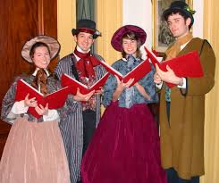 christmas carolers this photo of a of carol singers gives a real