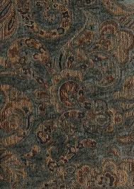 blue gold paisley pattern chenille upholstery fabric fabric