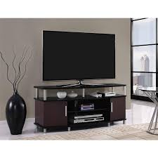 walmart tv table stand carson tv stand for tvs up to 50 multiple finishes walmart com