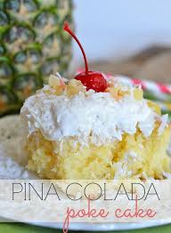 pina colada poke cake kitchen meets