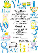 around the clock bridal shower around the clock bridal shower invitations marialonghi