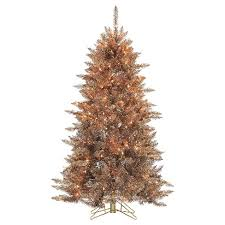 target white christmas tree lights 5ft pre lit slim artificial christmas tree layered copper silver