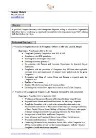 best company secretary resume page 1 career pinterest