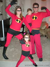 while they snooze how to make the incredibles halloween costumes