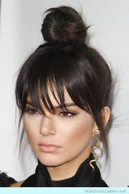 images of black braided bunstyle with bangs in back hairstyle kendall s top bun style check now ladies hairstyles