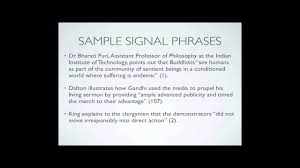 how to write a citation in a paper signal phrases parenthetical citation youtube