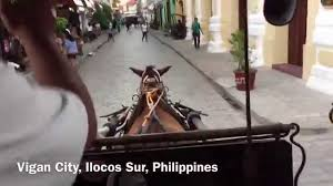 philippine kalesa kalesa karitela ride in vigan city youtube