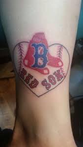 this is a really cool boston red sox tattoo i love the heart with