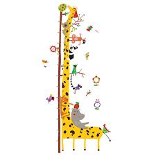 djeco wandtattoo wandsticker messlatte tiere amazonas kinderzimmer wandaufkleber jpg