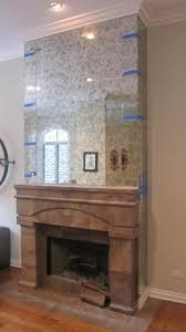 antique mirror install to fireplace surround specialty trades