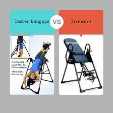 ironman gravity 4000 inversion table inversion table reviews teeter hangups vs ironman gravity 4000