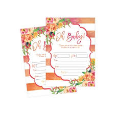 blank invitations 50 fill in baby shower invitations baby shower