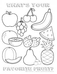 Fruit Coloring Pages For Preschoolers free fruit coloring page happiness is time