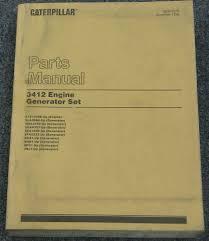 caterpillar cat 3412 generator set engine parts manual sebp2576