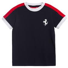 ferrari horse logo ferrari boys navy blue t shirt with prancing horse logo