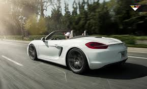 white porsche boxster on a roll vorsteiner u0027s new rims for porsche 981 boxster s http