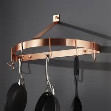 crate and barrel medicine cabinet cuisinart half circle copper wall mount pot rack crate and barrel