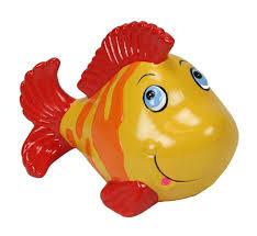 accessoire bureau rigolo tirelire poisson rigolo jaune