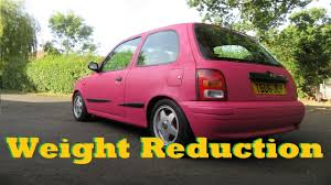 nissan micra k11 modified more weight reduction nissan micra k11 youtube