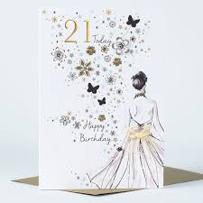 21st birthday card golden only 99p