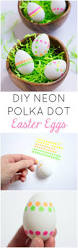 diy neon polka dot sticker easter eggs design improvised