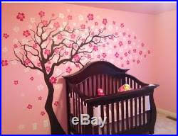 Cherry Blossom Tree Removable Wall Decal Applique Sticker Floral