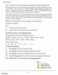 isc 2015 chemistry practical class xii board question paper 10