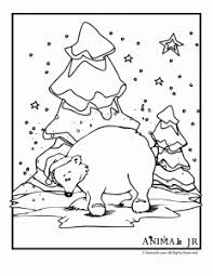 winter animal coloring pages animal jr