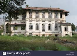 colonial mansion abandoned colonial mansion georgetown penang malaysia stock photo