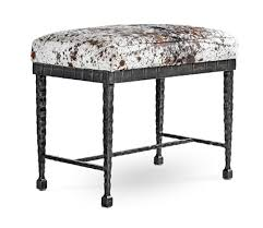 cf07 prague small bench with salt and pepper hair on hide