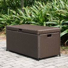 Patio Cushion Storage Bin by Seasons Furnishings Wicker Storage Deck Box Wickercentral Com