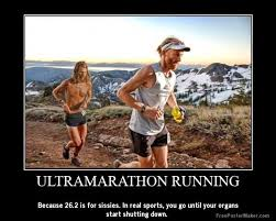 Running Marathon Meme - my wife on the run the definition of an ultra runner