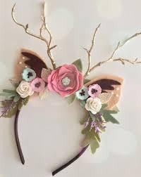 fawn headband embellished floral fawn ears headband deer headband