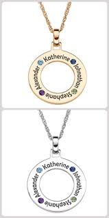Name And Birthstone Necklace Mothers Necklace With Kids Names Thrill Mom This Year